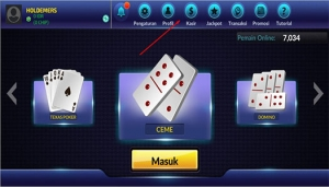 pilih menu kasir deposit poker